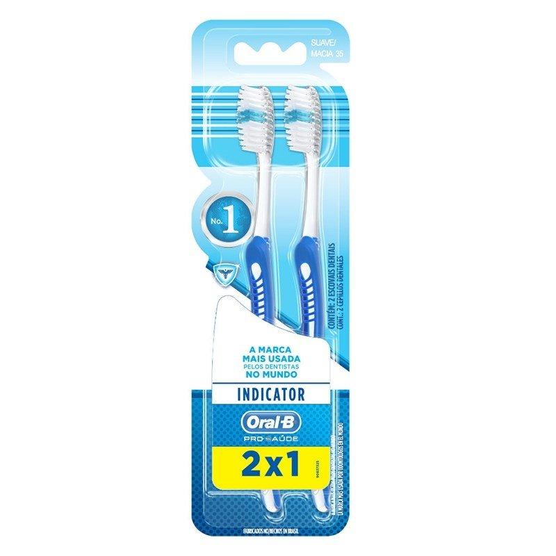 1c61e294e Escova Dental Oral B 3D Indicator Plus N° 35 Leve 2 Pague 1 - Fikbella