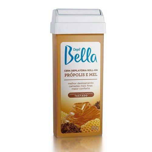 Cera-Depilatoria-Depil-Bella-Roll-On-Propolis-Mel---100g