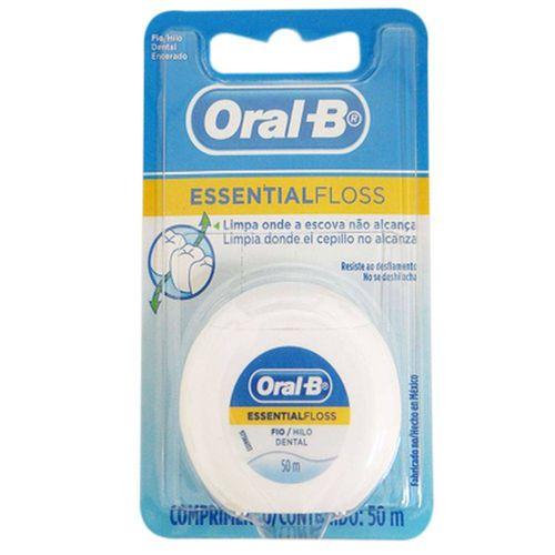 Fio-Dental-Oral-B-Essencial-Encerado---50m
