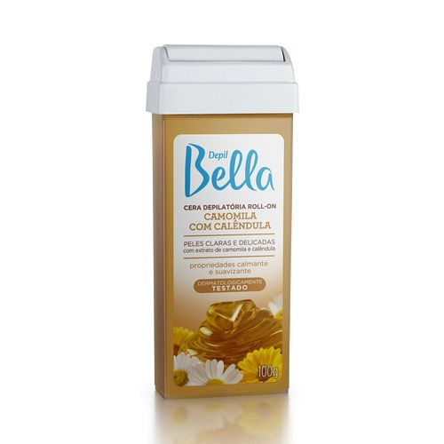Cera-Depilatoria-Depil-Bella-Roll-On-Camomila---100g