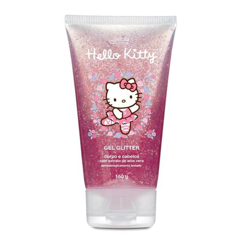 Gel-Capilar-e-Corporal-Hello-Kitty-Glitter---180g
