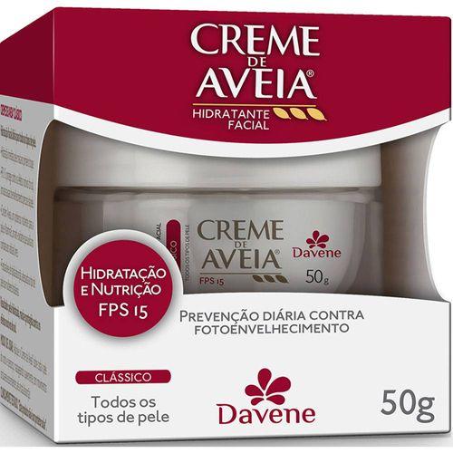 Creme-Facial-Aveia-Davene-FPS15-Classico---50g