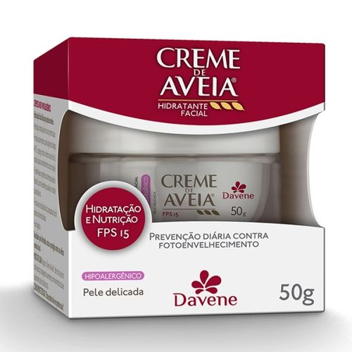 Creme-Facial-Aveia-Davene-FPS15-Hipoalergenico---50g