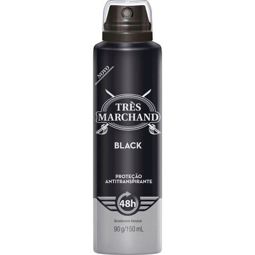 Desodorante-Aerosol-Tres-Marchand-Black---165ml