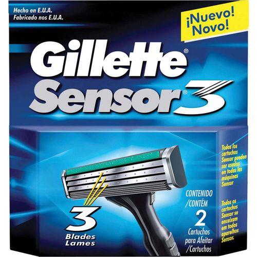 Refil-Gillette-Sensor-3---Contem-2-unidades