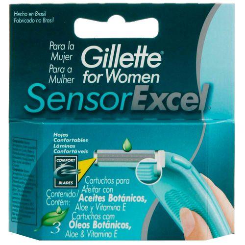 Refil-Gillette-Sensor-Excel-Feminino---Contem-3-unidades