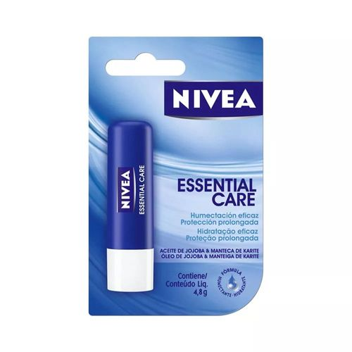Protetor-Labial-Nivea-Lip-Care-Essencial-Care-48g