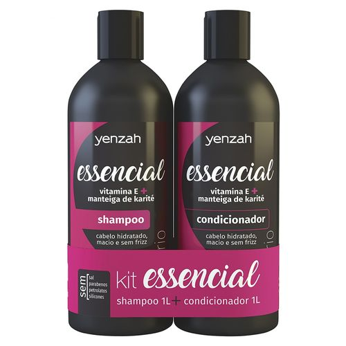 Kit-Shampoo---Condicionador-Yenzah-Essencial---1L
