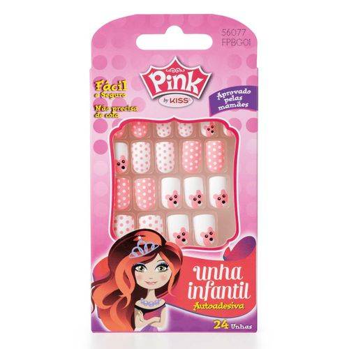 Unha-Infantil-Autoadesiva-Pink-By-Kiss-Sticker-Stylin-