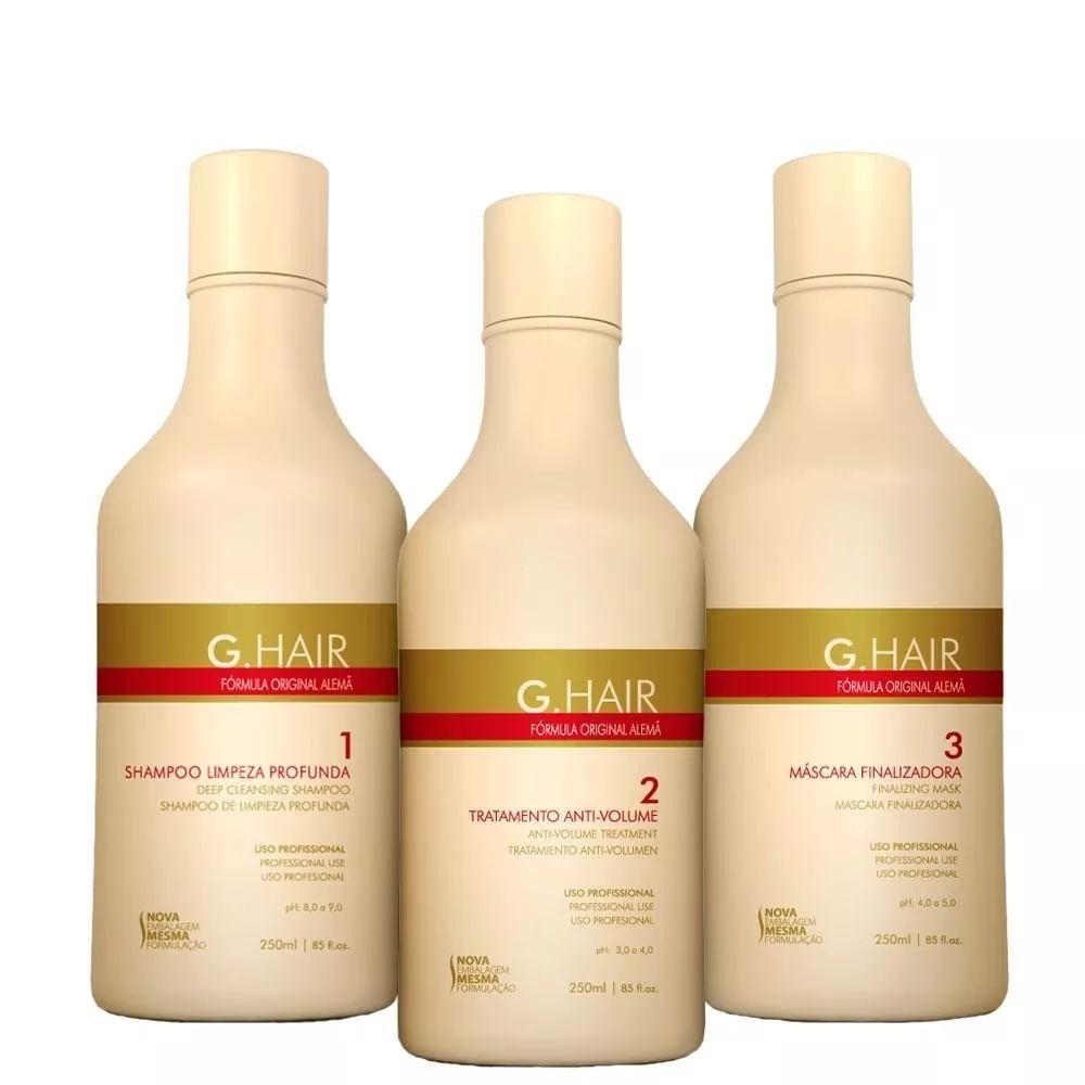 c0bba81dd Kit Escova Progressiva G.Hair Formula Alemâ 3x250g - Fikbella