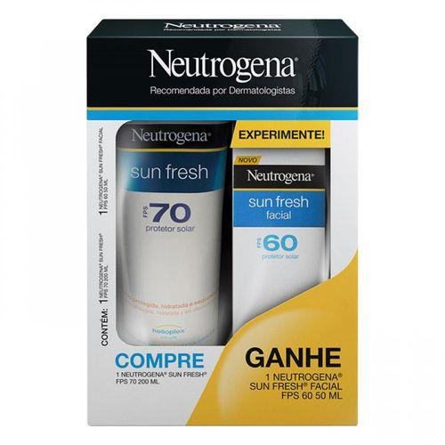Kit-Protetor-Solar-F70-200ml-Protetor-Facial-F60-Neutrogena-Sun-Fresh