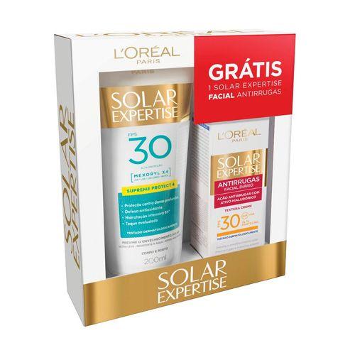 Kit-Protetor-Solar-Loreal-F30-Creme-Facial-Supreme-Protec