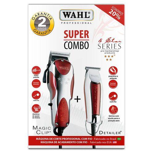 Kit-para-Corte-de-Cabelo-Magic-CLIP-127V-e-Detailer-WAHL