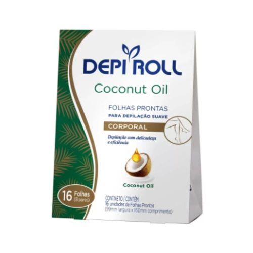 Folha--Depilatoria--Depiroll-C--16un-Floral-Oleo-de-Coco