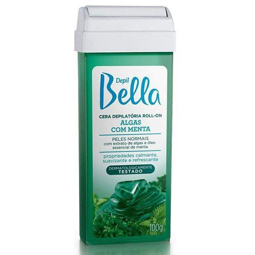Cera-Depilatoria-Depil-Bella-Roll-On-Algas-com-Menta---100g