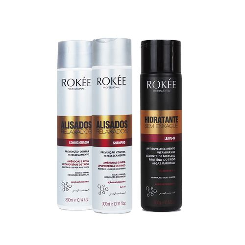 Kit-ROKEE-Shampoo---Condicionador-para-Cabelos-Alisados-e-Relaxados-300ml