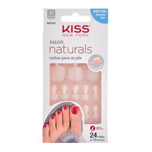 Unhas-Posticas-Kiss-New-York-Salon-Naturals-para-Pes