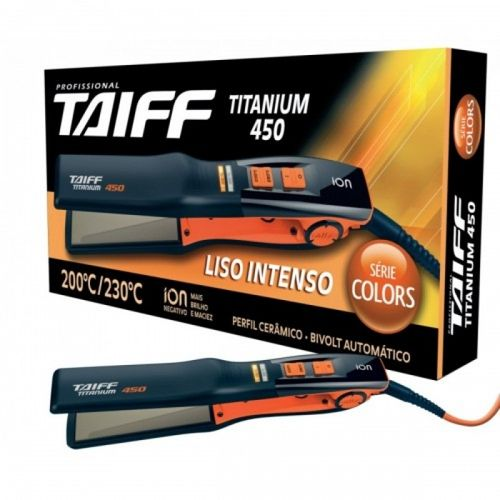 Chapa-Profissional-Taiff-Titanium-450-Colors-Bivolt---Laranja-