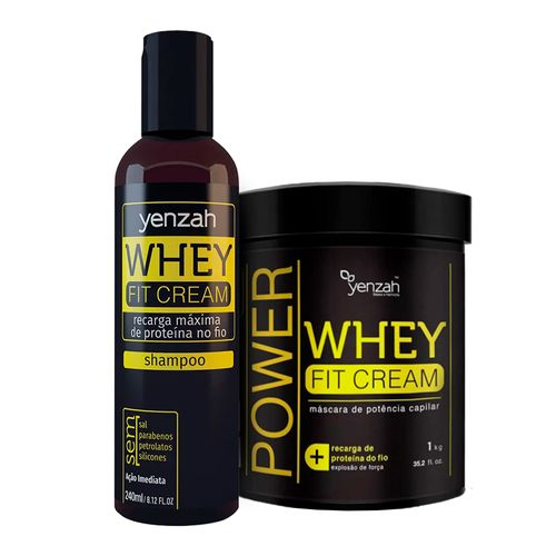 Kit-Whey-Fit-Cream-Shampoo-240ml---Mascara-1kg--Yenzah-
