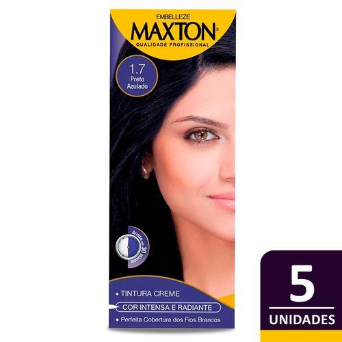 Kit-Tintura-Maxton-Pratico-Preto-Azulado-1.7-c-5un-