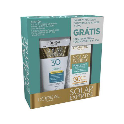 Kit-Protetor-Solar-L-Oreal-FPS30-120ml---Protetor-Facial-Antirrugas-FPS30---25g-Fikbella-139735
