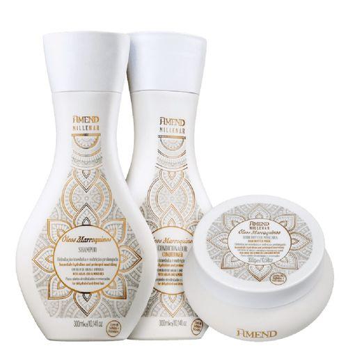 Kit-Amend-Millenar-Oleos-Marroquinhos-Shampoo---Condiconador-300ml---Mascara-de-Reparacao-300g---Fikbella