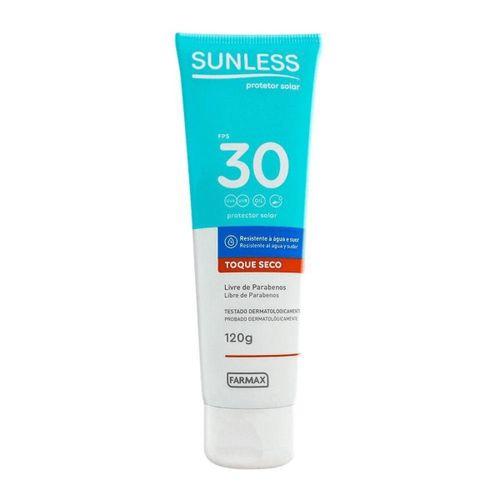 Protetor-Solar-Sunless---Toque-Seco-FPS-30---120g--Fikbella