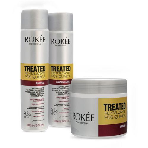 Kit-Rokee-Quimicamente-Tratados-Shampoo-e-Condicionador-300ml---Mascara-500g-