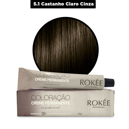 Coloracao-Creme-Permanente-ROKEE-Professional-50g-Castanho-Claro-Cinza-5-1-Fikbella-142509