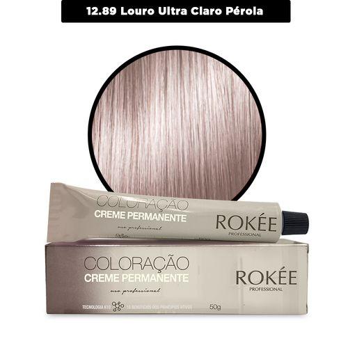 Coloracao-Creme-Permanente-ROKEE-Professional-50g-Louro-Ultra-Claro-Perola-12-89-Fikbella-142550-