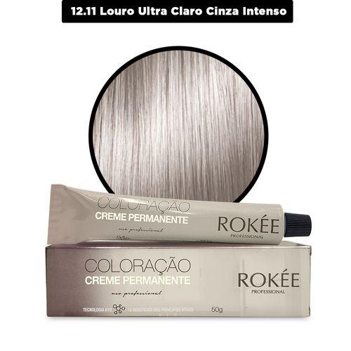 Coloracao-Creme-Permanente-ROKEE-Professional-50g-Clareador-Louro-Ultra-Claro-Cinza-Intenso-12-11-Fikbella-142549