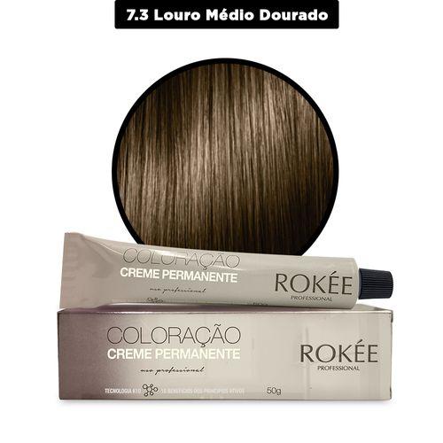 Coloracao-Creme-Permanente-ROKEE-Professional-50g-Louro-Dourado-7-3-Fikbella-142515