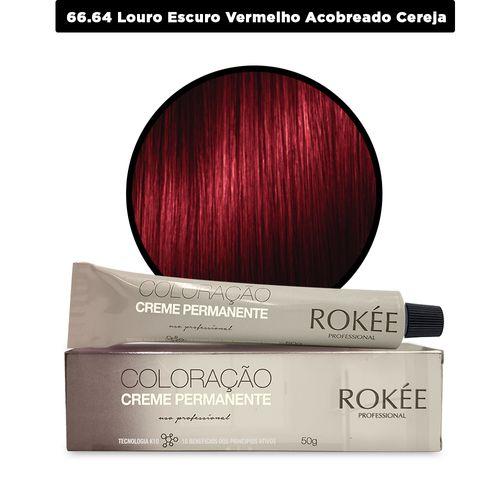 Coloracao-Creme-Permanente-ROKEE-Professional-50g-Louro-Escuro-Vermelho-Cobre-Cereja-66-64-Fikbella-142544