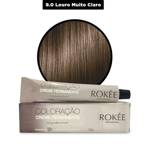 Coloracao-Creme-Permanente-ROKEE-Professional-50g-Louro-Muito-Claro-9-0-Fikbell-142503
