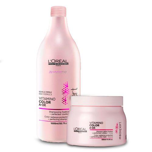 Kit-L-Oreal-Professionnel-Expert-Vitamino-Color-Shampoo-15ml---Mascara-500g-Fikbella