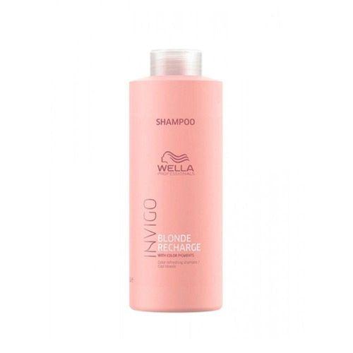 Shampoo-Wella-Professionals-Invigo-Blonde-Recharge-1L---Fikbella