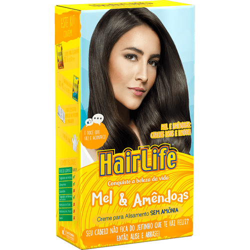 Kit-Creme-Alisante-HairLife-Mel---Amendoas--180g-28715-Fikbella