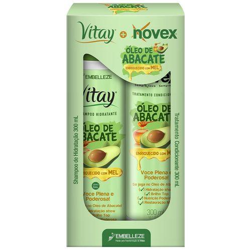 Kit-Vitay-Novex-Shampoo-e-Tratamento-Condicionante-Oleo-de-Abacate---300ml-140263-Fikbella