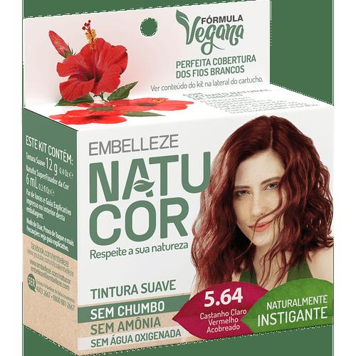 Kit-Coloracao-Natucor-Naturalmente-Instigante-Hibisco-Castanho-Claro-5.64-Vermelho-Acobreado-97555-Fikbella