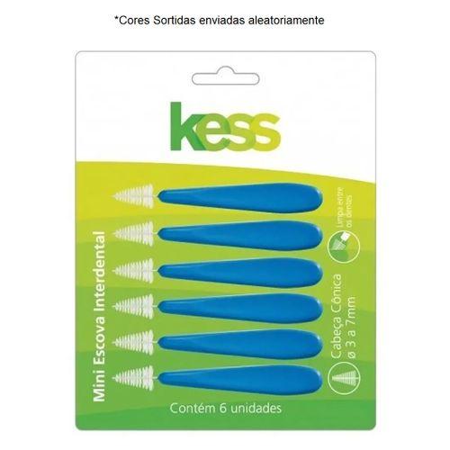 Escova-Dental-Interdental-Kess-6un-Conica-Cores-Sortidas-Fikbella-133920
