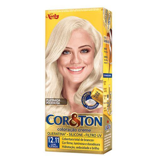 Kit-Coloracao-Creme-Cor---Ton-Louro-Platinado-12.11