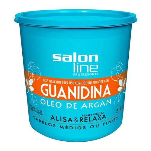 Creme-Alisante-Salon-Line-Guanidina-Oleo-de-Argan----218g