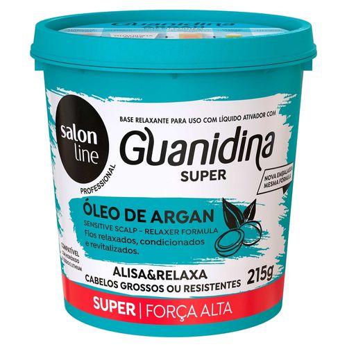 Creme-Alisante-Salon-Line-Guanidina-Super-Oleo-de-Argan----218g