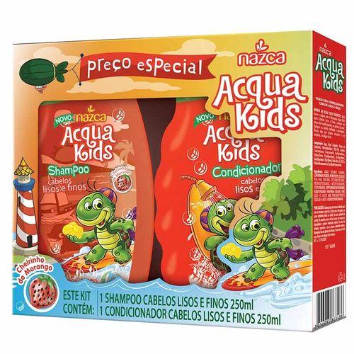 Shampoo---Condicionador-Infantil-Acqua-Kids-Cabelos-Lisos-e-Finos---250ml-Fikbella
