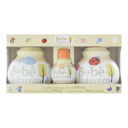 Kit-Shampoo-230ml---Condicionador-230ml---Colonia-30ml-Bebe-Natureza-Fikbella