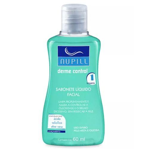 Mini-Sabonete-Liquido-Facial-Derme-Control-Nupill---60ml-Fikbella