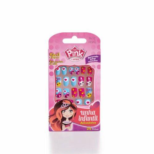 Unhas-Auto-Adesivas-Pink-Be-Pink-Pop-Princ-Libra---24un-fikbella-44147