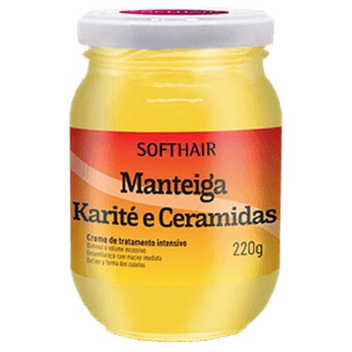 CREME-H-SOFT-HAIR-MANTEIGA-220G-KARITE-CERAMIDA-Fikbella