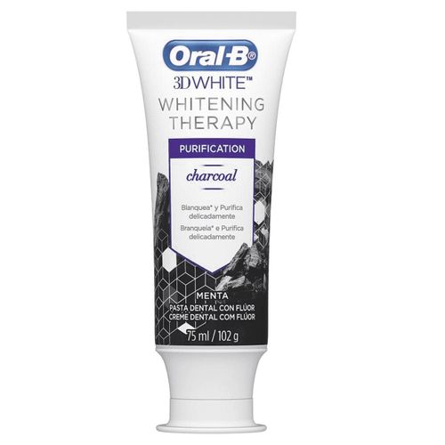 Creme-Dental-Oral-B-3D-White-Therapy-Purification-Charcoal---102g-Fikbella