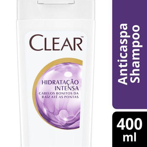 Shampoo Clear Anticaspa Hidratação Intensa - 400ml